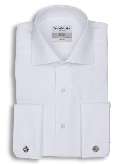 Camisa Tervilor Sir largo extra cuello italiano puño doble