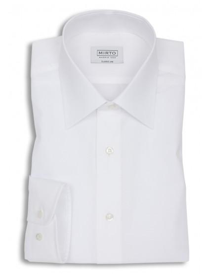 Camisa popelin cuello inglés puño mixto