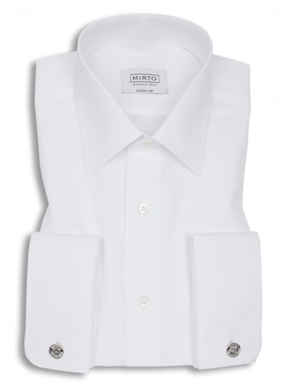 Camisa Mirto Popelin Cuello Inglés Puño Doble