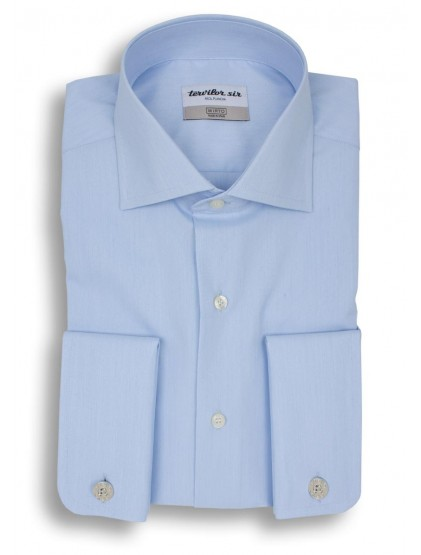 Camisa Tervilor Sir Fil a Fil cuello italiano puño doble