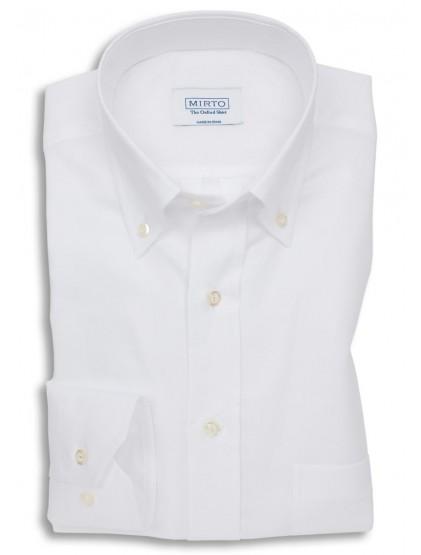 Camisa oxford cuello botón y bosillo