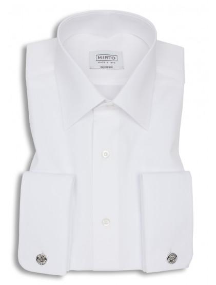Camisa popelin cuello inglés puño doble