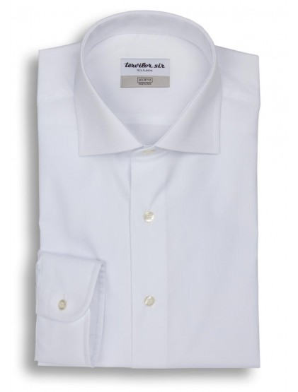 Camisa Tervilor Sir cuello italiano puño mixto