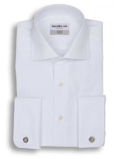 Camisa Tervilor Sir cuello italiano y puño doble