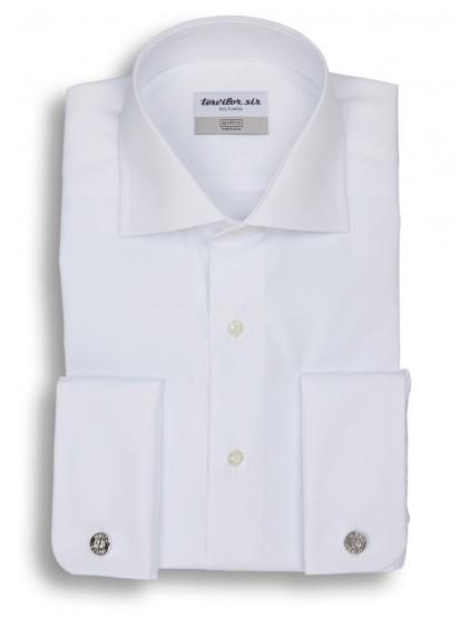 Camisa Tervilor Sir cuello italiano y puño doble